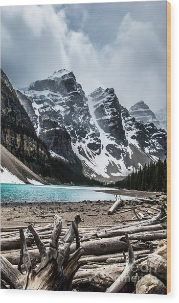Canadian Rockies Wood Print