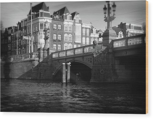 Wood Print featuring the photograph Canal Bridge by Scott Hovind