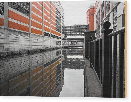 Canal Wood Print