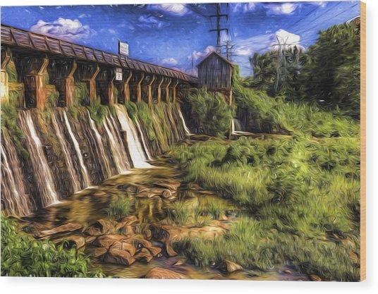 Canal Dam Wood Print