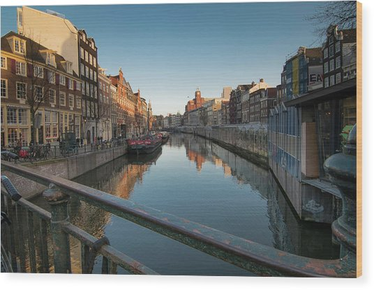 Canal From The Bridge Wood Print