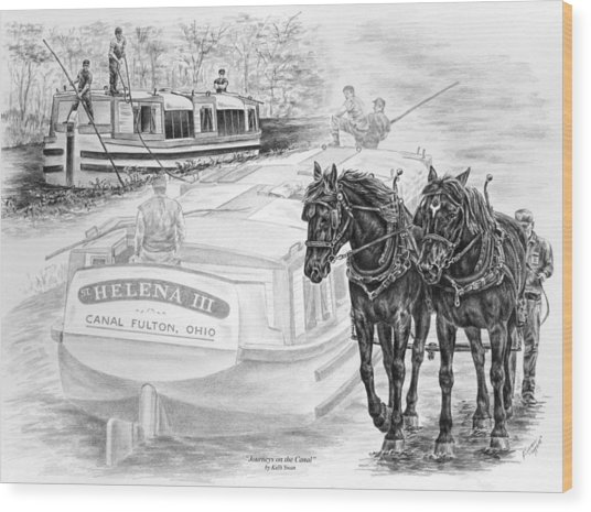 Canal Fulton Ohio Print - Journeys On The Canal Wood Print