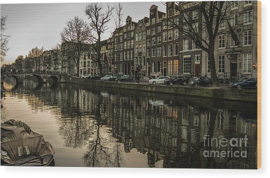Canal House Reflections Wood Print