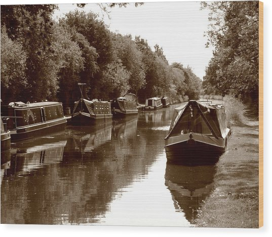 Canal Wood Print
