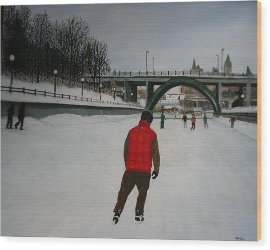 Canal Skate Wood Print
