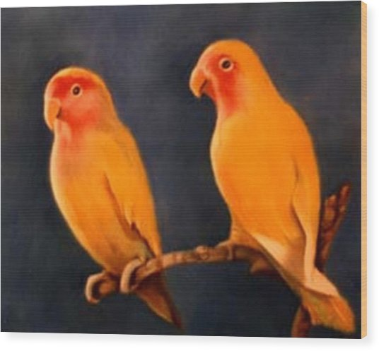 Canaries Wood Print by Jordana Sands