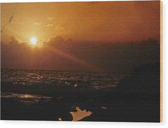 Canary Islands Sunset Wood Print