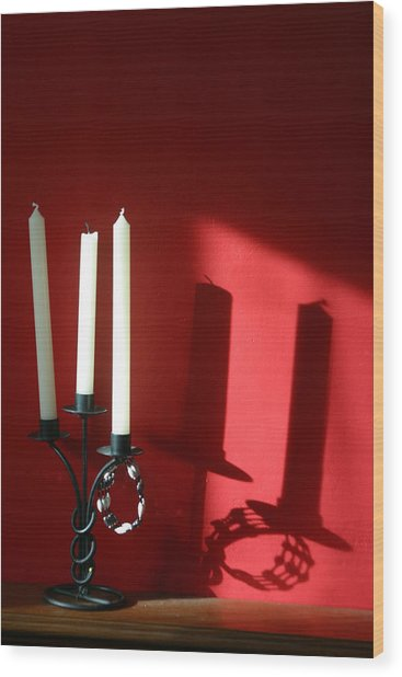 Candled Wood Print by Jez C Self