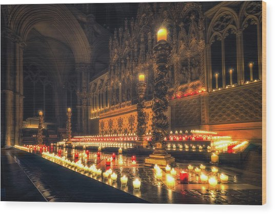 Wood Print featuring the photograph Candlemas - Altar by James Billings