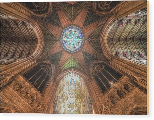 Wood Print featuring the photograph Candlemas - Octagon by James Billings
