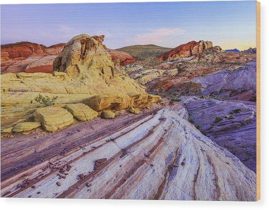 Candy Cane Desert Wood Print