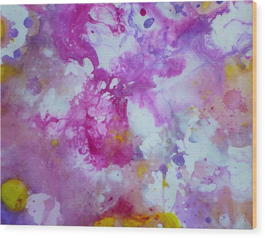 Candy Clouds Wood Print