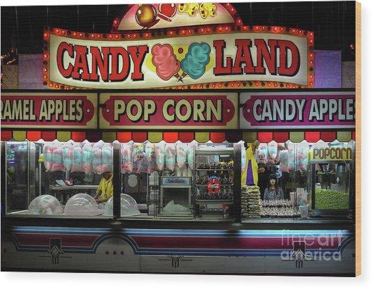 Candy Land Wood Print