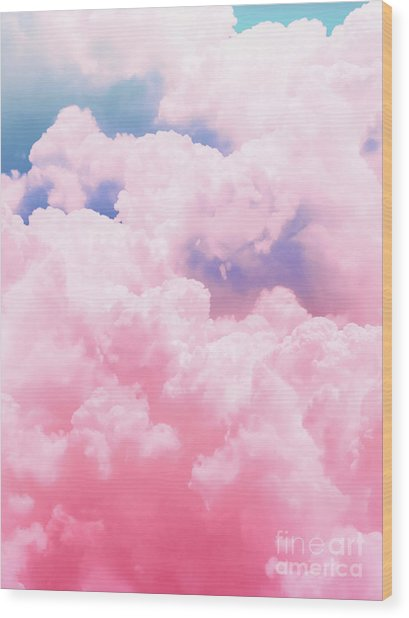 Candy Sky Wood Print