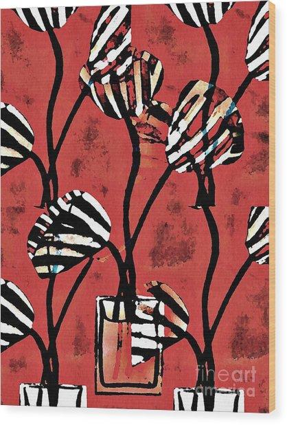 Candy Stripe Tulips 2 Wood Print