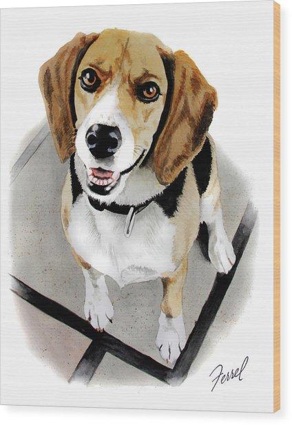 Canine Cutie Wood Print