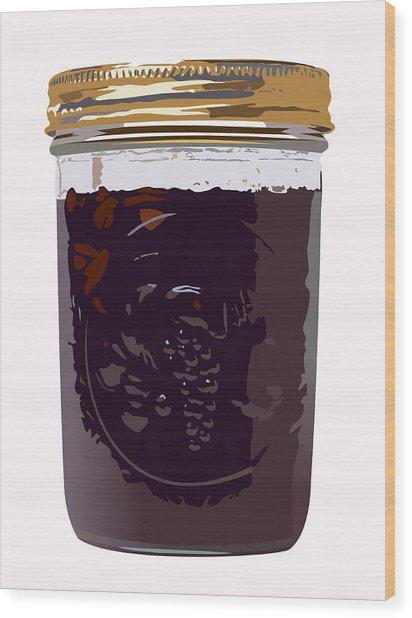Canned Cherries Wood Print by Robert Bissett