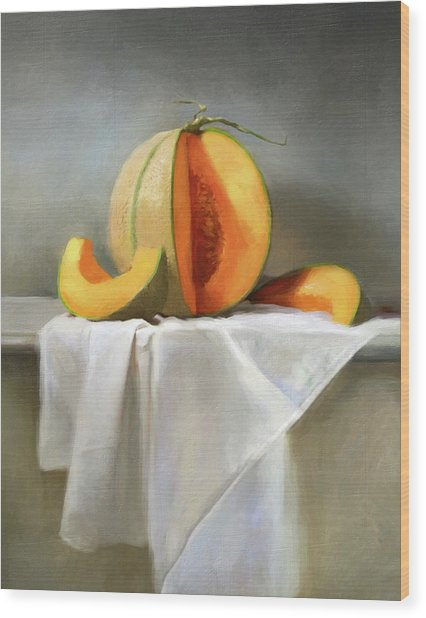Cantaloupes Wood Print