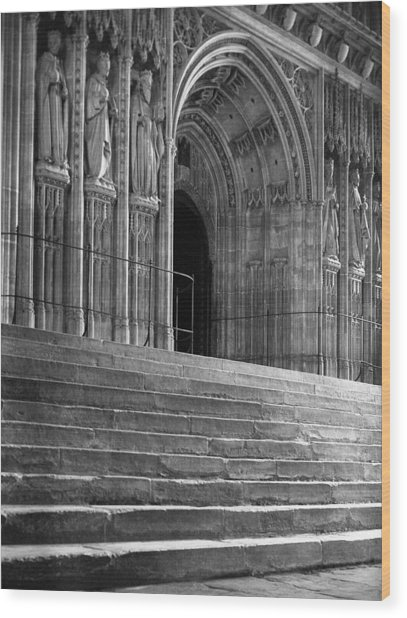 Canterbury Cathedral Choir Entrance Canterbury England Wood Print by Richard Singleton