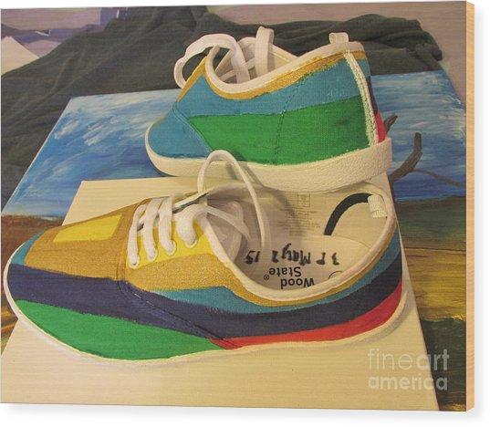 Canvas Shoe Art 003 Wood Print