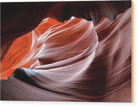 Canyon Abstract 2 Wood Print