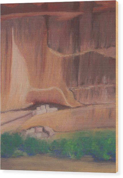 Canyon De Chelly Cliffdwellers #2 Wood Print