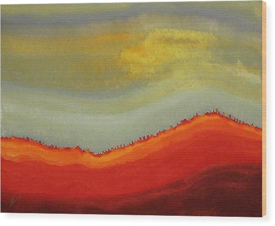 Canyon Outlandish Original Painting Wood Print