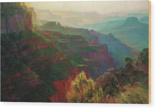 Canyon Silhouettes Wood Print