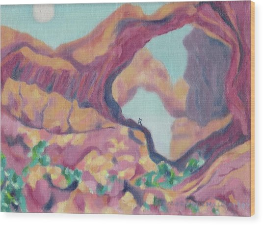 Canyon Wood Print by Suzanne  Marie Leclair