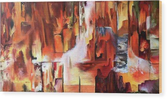 Canyon Walls Wood Print