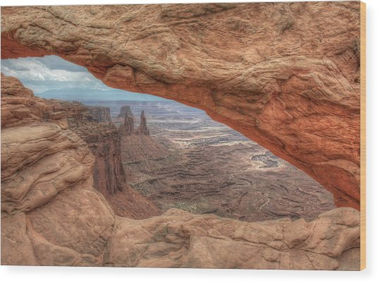 Canyonlands From Mesa Arch Wood Print