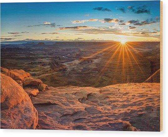 Canyonlands Sunset Wood Print