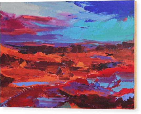 Canyon At Dusk - Art By Elise Palmigiani Wood Print