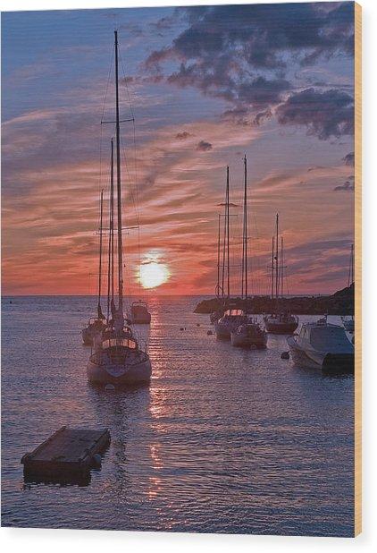 Cape Ann Sunrise Wood Print by Robert Pilkington