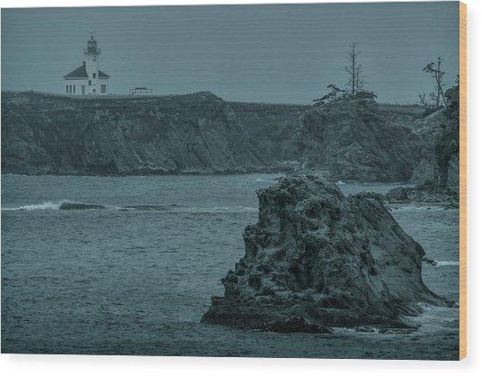 Cape Arago Light Wood Print