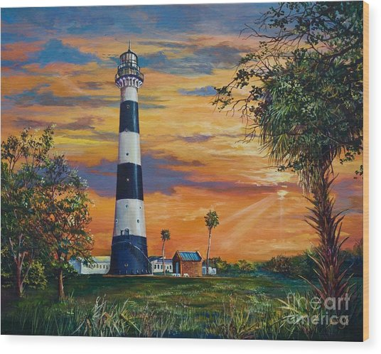 Cape Canaveral Light Wood Print