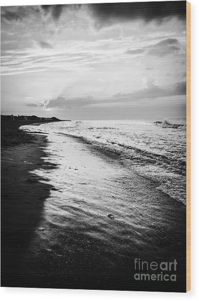 Cape Cod Beach Sunset Wood Print by JMerrickMedia