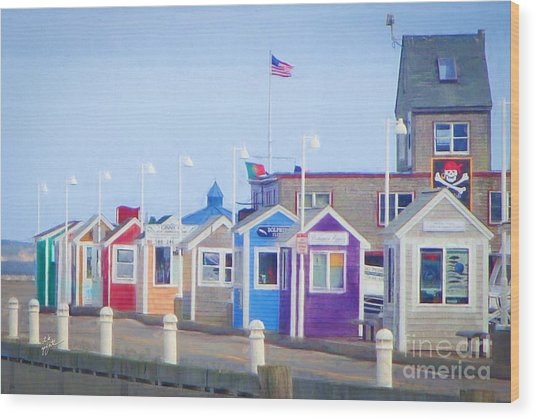 Cape Cod Cabins Wood Print