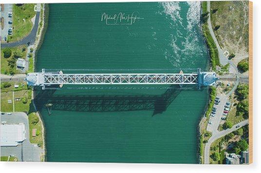 Cape Cod Canal Railroad Bridge Wood Print