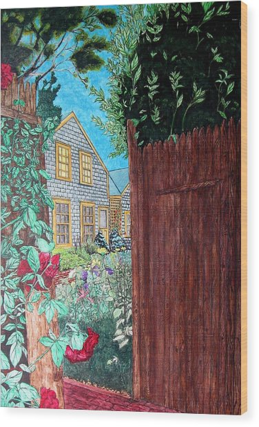 Cape Cod Cottage Wood Print by Joshua Armstrong