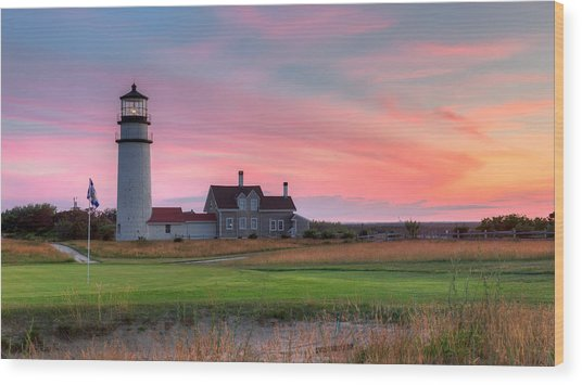Cape Cod Highland Links Wood Print