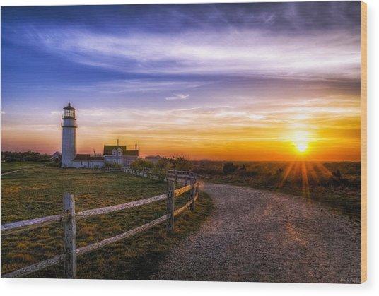 Cape Cod Light Wood Print