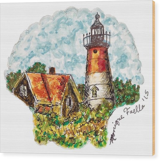 Cape Cod Lighthouse Wood Print