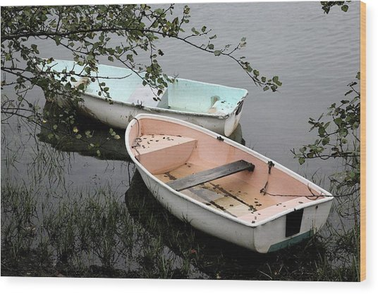 Cape Cod Pond Wood Print