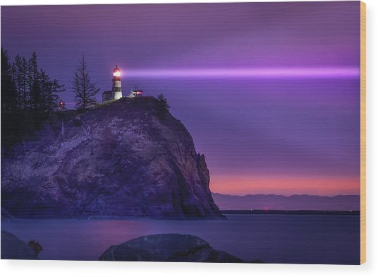 Cape Disappointment Light Wood Print