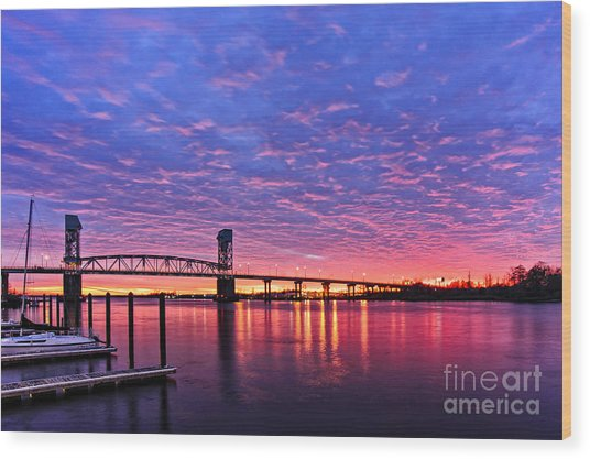 Cape Fear Bridge1 Wood Print