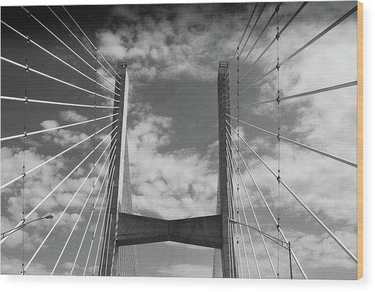 Cape Girardeau Bridge Wood Print