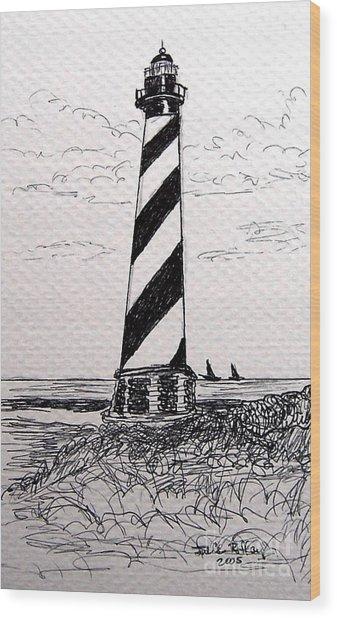 Cape Hatteras Lighthouse Nc Wood Print