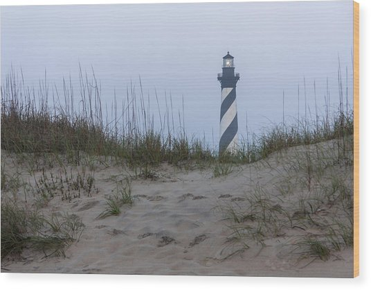 Cape Hatteras Over The Dunes Wood Print