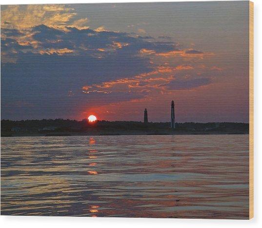 Cape Henry Sunset Wood Print